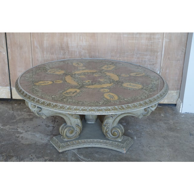 Acanthus Carved Italian Coffee Table - Image 5 of 9