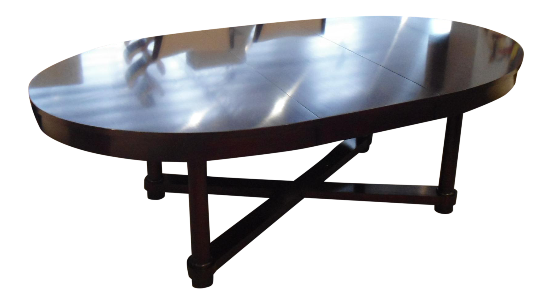 Barbara Barry Oval Dining Table With 2 Leaves For Baker Furniture