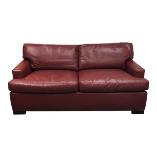 A. Rudin Red Leather Sofa