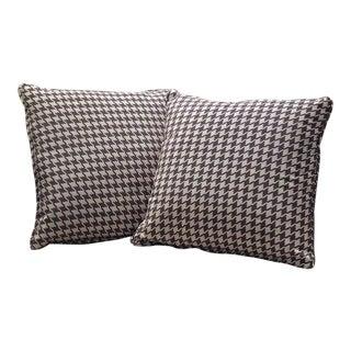 Sarreid Ltd. Lola Houndstooth Gray Pillows - A Pair