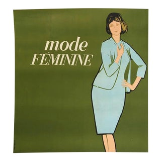 La Mode Feminine Lithograph in Colors by Avenir Publicite France (1960)