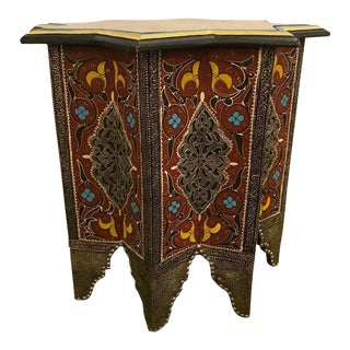 Star Table or Footstool Rust Inlaid