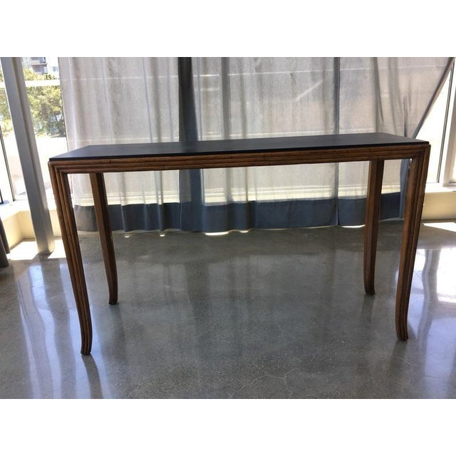 Image of McGuire San Francisco Carved Wood Console Table