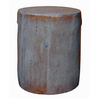 Mauve Clay Ceramic Garden Stool