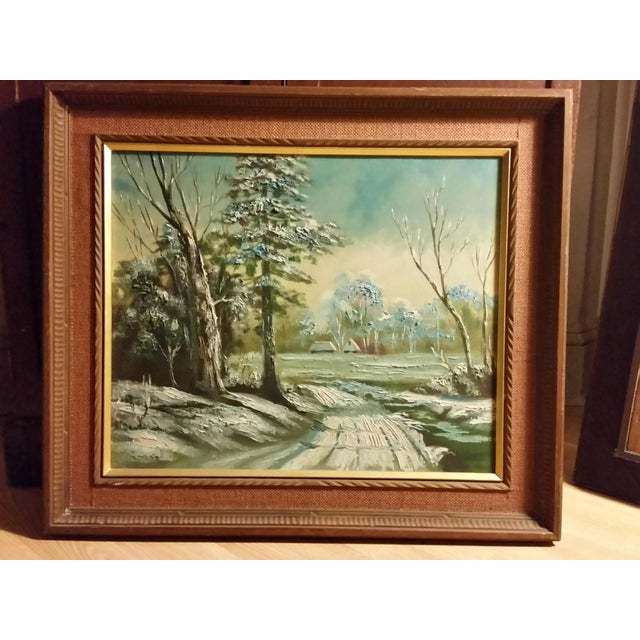 Image of Mid-Century Signed Japanese Oil Painting