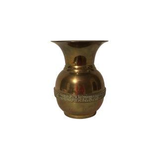 Brass Greek Key Band Vase