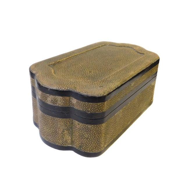 Chinese Mustard Yellow Pattern Cover Box - Image 2 of 5