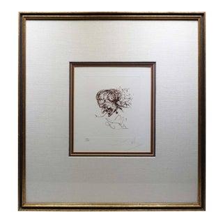 """""""Symbols"""" Signed Salvador Dali Devil Etching, 1970"""