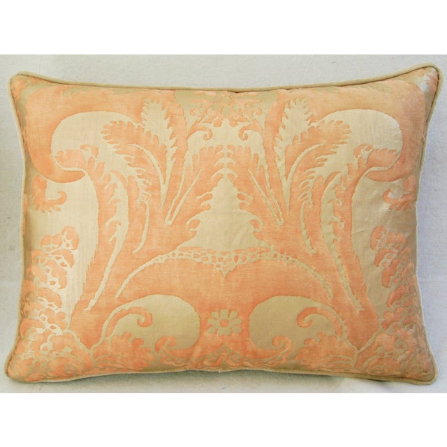 Italian Fortuny Glicine Gold Pillows - Pair - Image 5 of 11