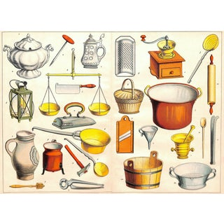 1885 Kitchen Utensils Gadgets and Cookware Print