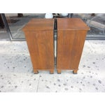 Image of Italian Walnut Nightstands - A Pair