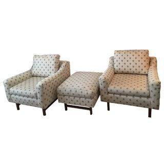 Edward Wormley Chairs & Ottoman for Dunbar