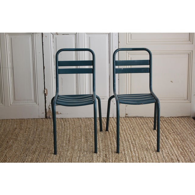 Vintage French Bistro Chairs - Image 2 of 7