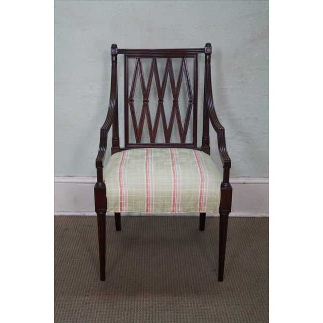 Beacon Hill Solid Mahogany Regency Style Arm Chair - Image 2 of 10