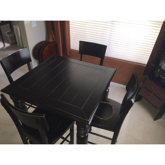 Image of Black Pub Table Set