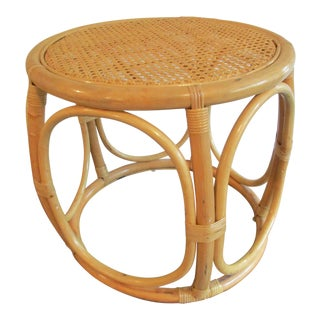 Vintage Bentwood and Cane Topped Stool