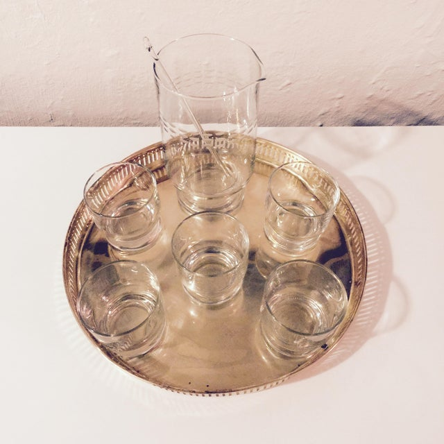 Brass Tray & Glassware Set - Image 3 of 10