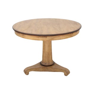 Neoclassical Style Round Pedestal Table