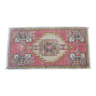 Turkish Muted Tone Carpet - 1′8″ × 3′1″