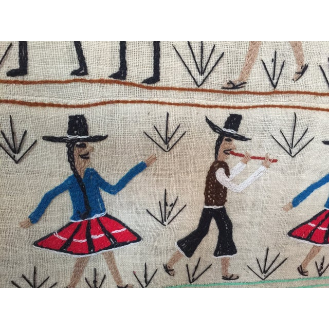 Central American Traditional Art Textile - Image 4 of 4