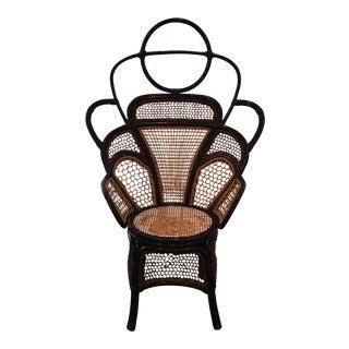 Blue Anthropologie Peacock Chair