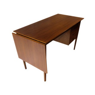 Arne Vodder Mid-Century Danish Walnut Drop Leaf Desk