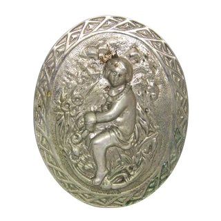 Silvered Hanging Figural Plaque
