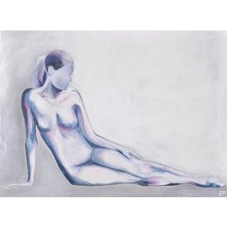 Contemporary Indigo Nude Painting