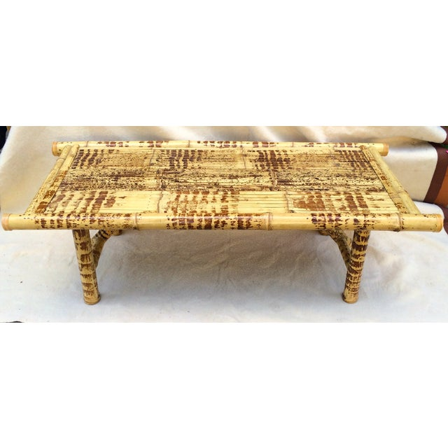 Burnt Bamboo Coffee Table - Image 2 of 5