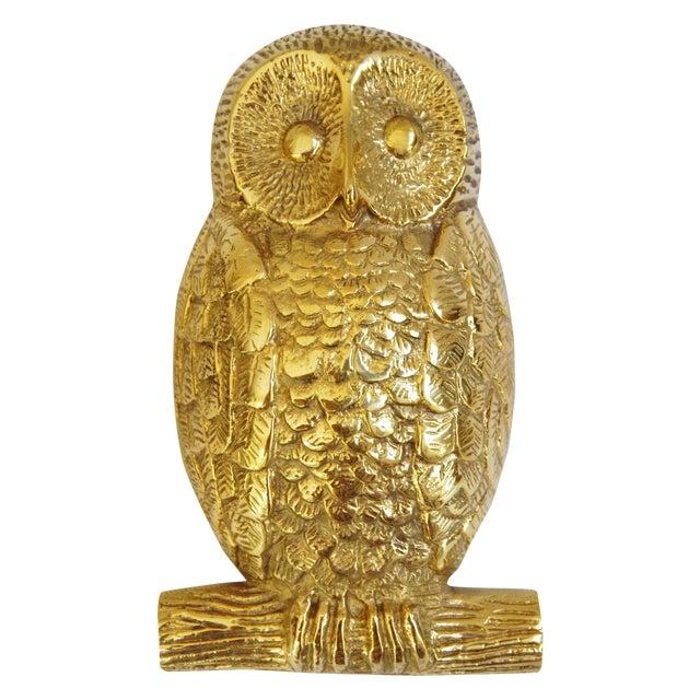 Mid-Century Brass Owl Door Knocker - Image 1 of 8