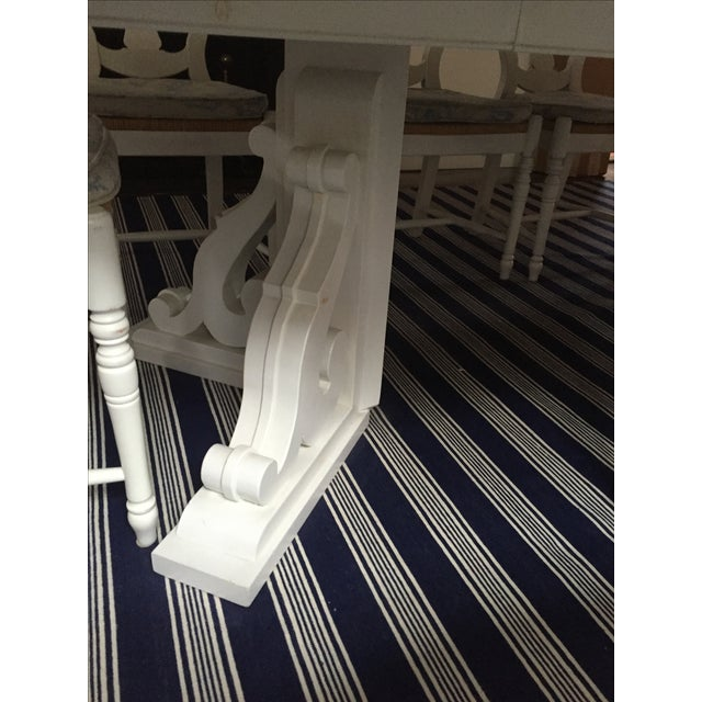 White Dining Table with Two Leaves - Image 5 of 6