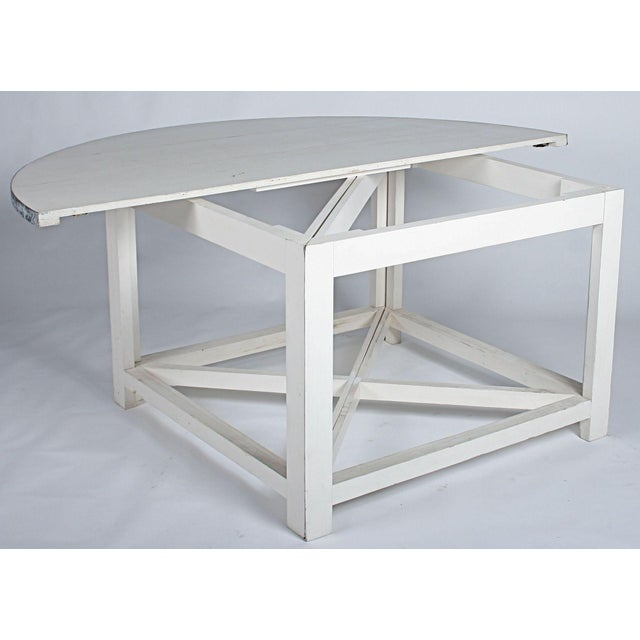 Image of Large Round White Dining Table