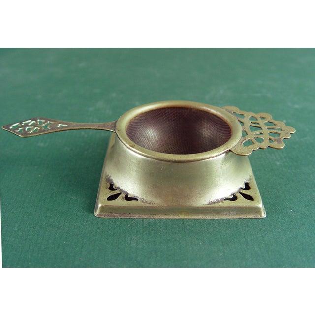 Vintage English Tea Strainer & Stand - Image 2 of 7