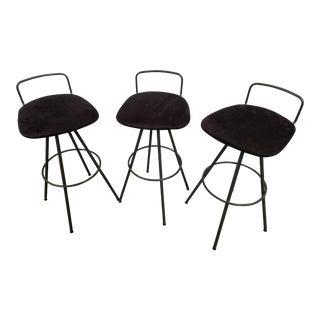 Amisco Mid-Century Modern Style Barstools - Set of 3