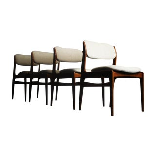 Benny Linden Teak Modern Dining Chairs - Set of 4