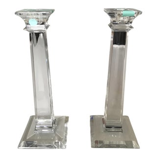 Tiffany & Co Classic Crystal Candlestick - A Pair