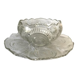 Peacock Design Punch Bowl