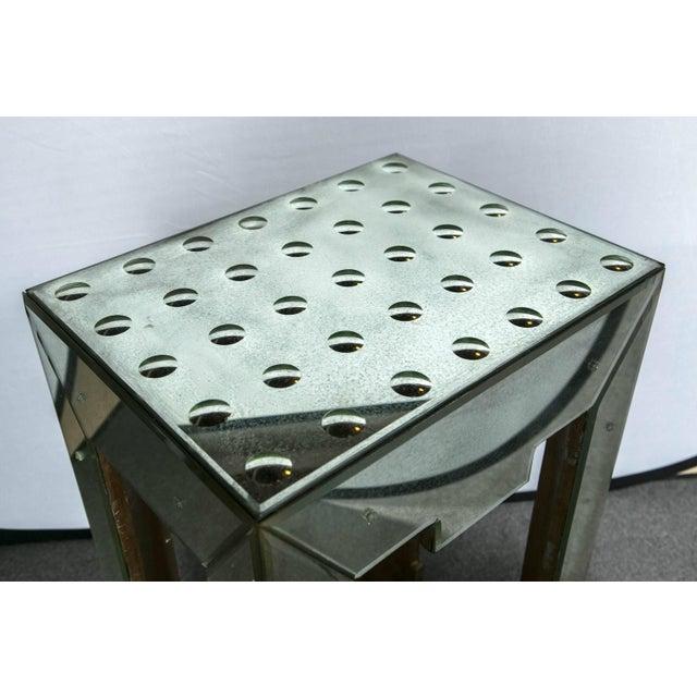 Mirrored Bullseye Art Deco Side Tables - Pair - Image 4 of 5