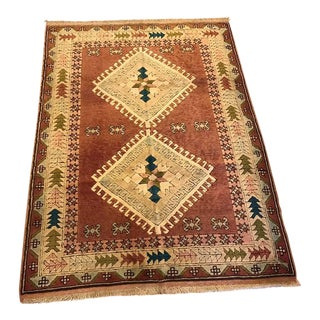 "Vintage Kars Turkish Rug - 4'4"" X 5'9"""