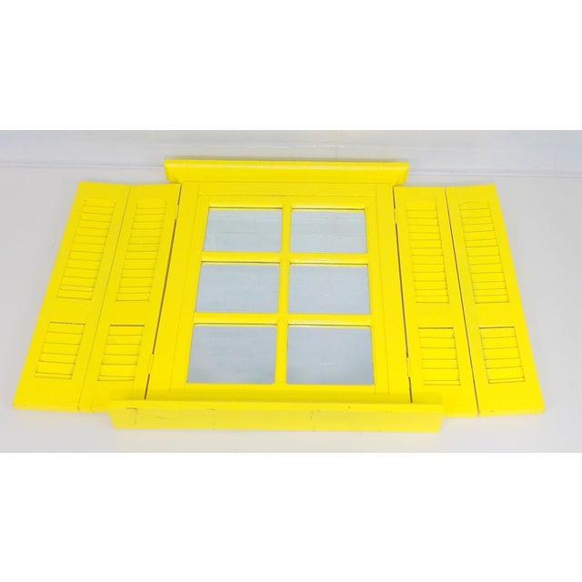 Yellow Window Pane Wall Mirror - Image 2 of 9