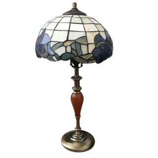 Tiffany Floral Art Glass Lamp