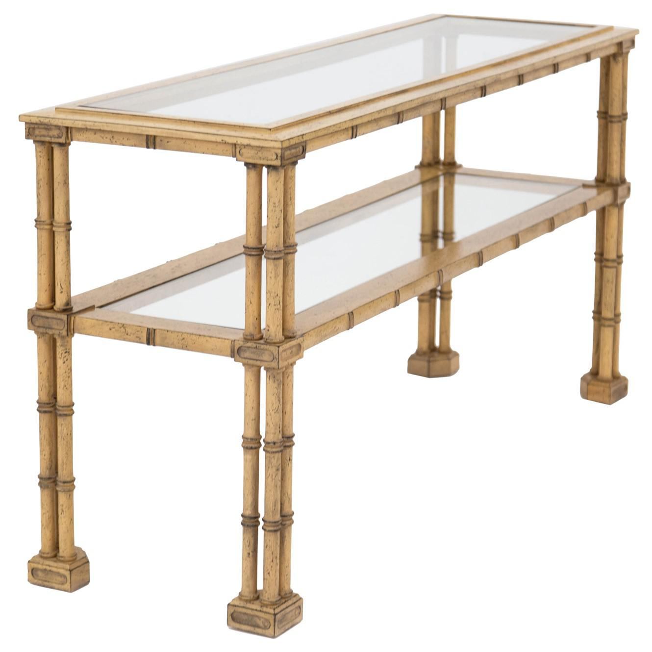 Awesome Faux Bamboo Console Table   Image 3 Of 9