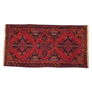 Vintage Red Soumak Rug - 5′4″ × 10′4″