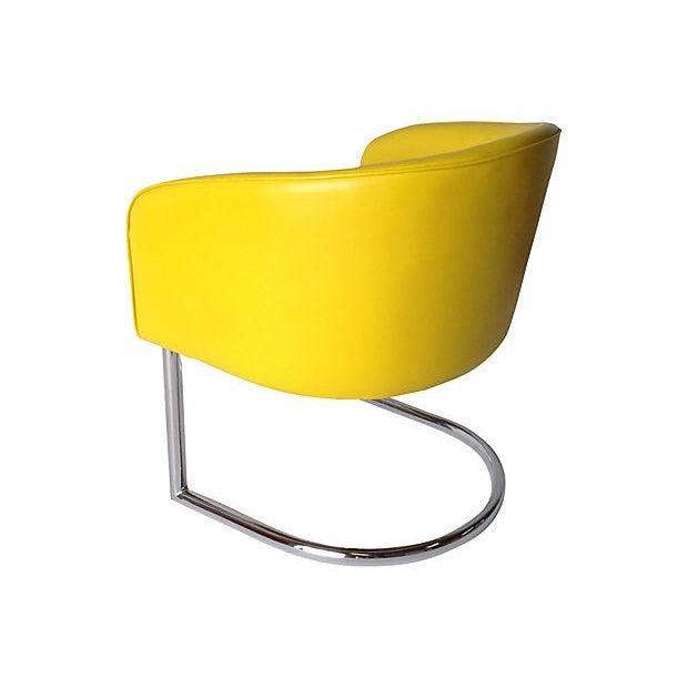 Image of Milo Baughman Chrome Tub Club Chair