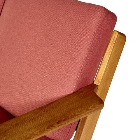Hans J. Wegner for GETAMA Three Seat Sofa in Oak GE 290 - Image 9 of 10