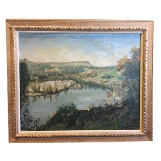 """Feather River"" Oil Painting by Werner Philipp Circa 1957"