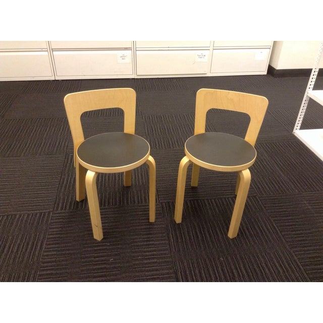 Artek Children's Chairs N65 - Pair - Image 2 of 5