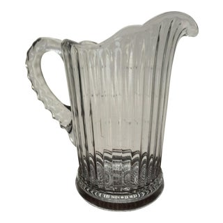 1920s Blown Glass Panel Pitcher