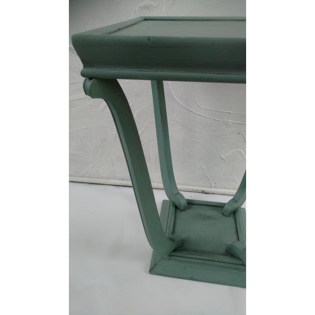 Blue Glazed Side Table - Image 3 of 6