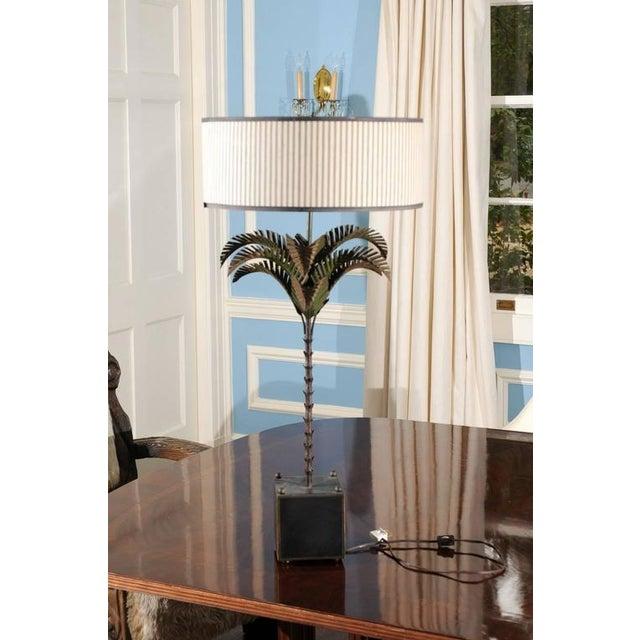 Italian Tole Palm Lamp - Image 3 of 5